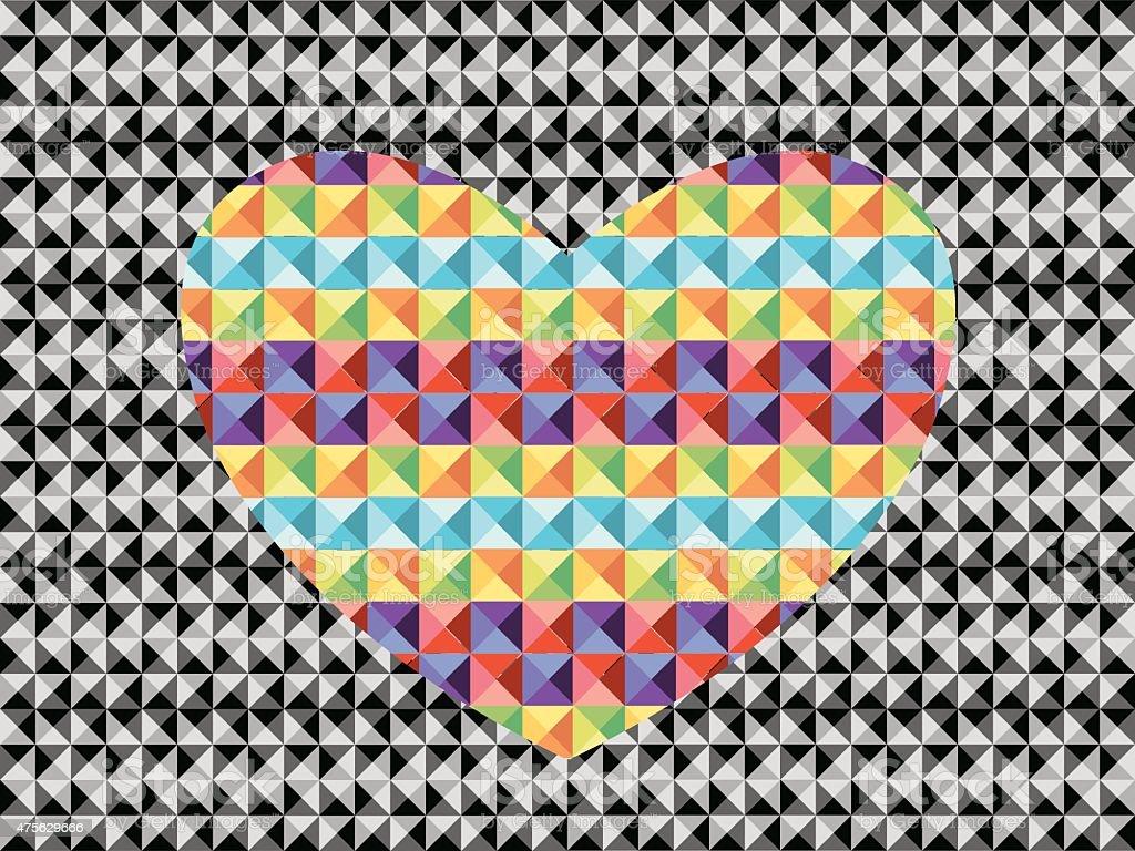 Corazon de triangulos