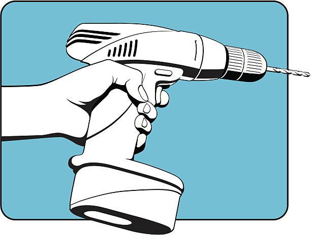 Power Drill Bit Clip Art : Royalty free drill clip art vector images illustrations