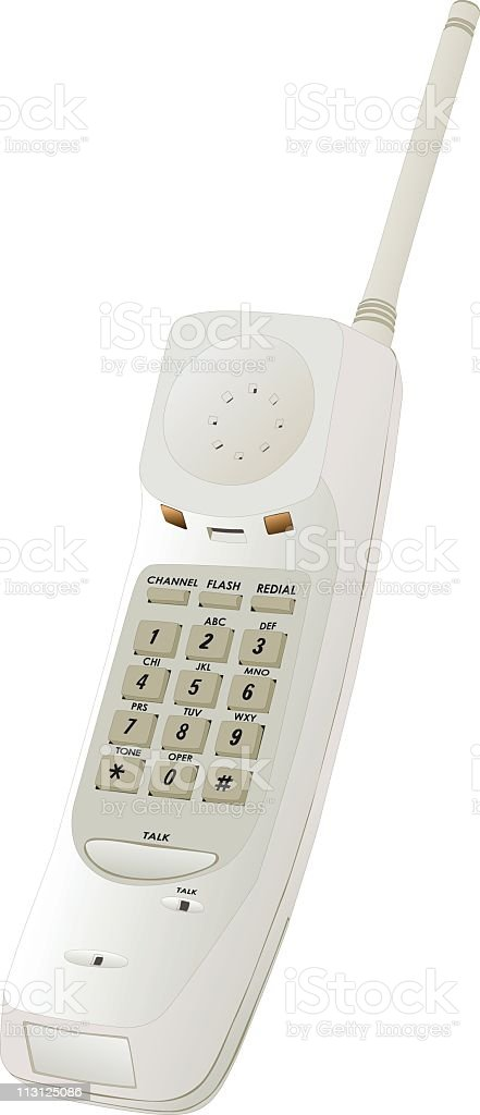 Cordless Phone (Vector) vector art illustration