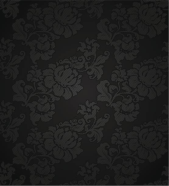 kordsamt dunklem hintergrund, dekorative blumen textur material - plüschmuster stock-grafiken, -clipart, -cartoons und -symbole