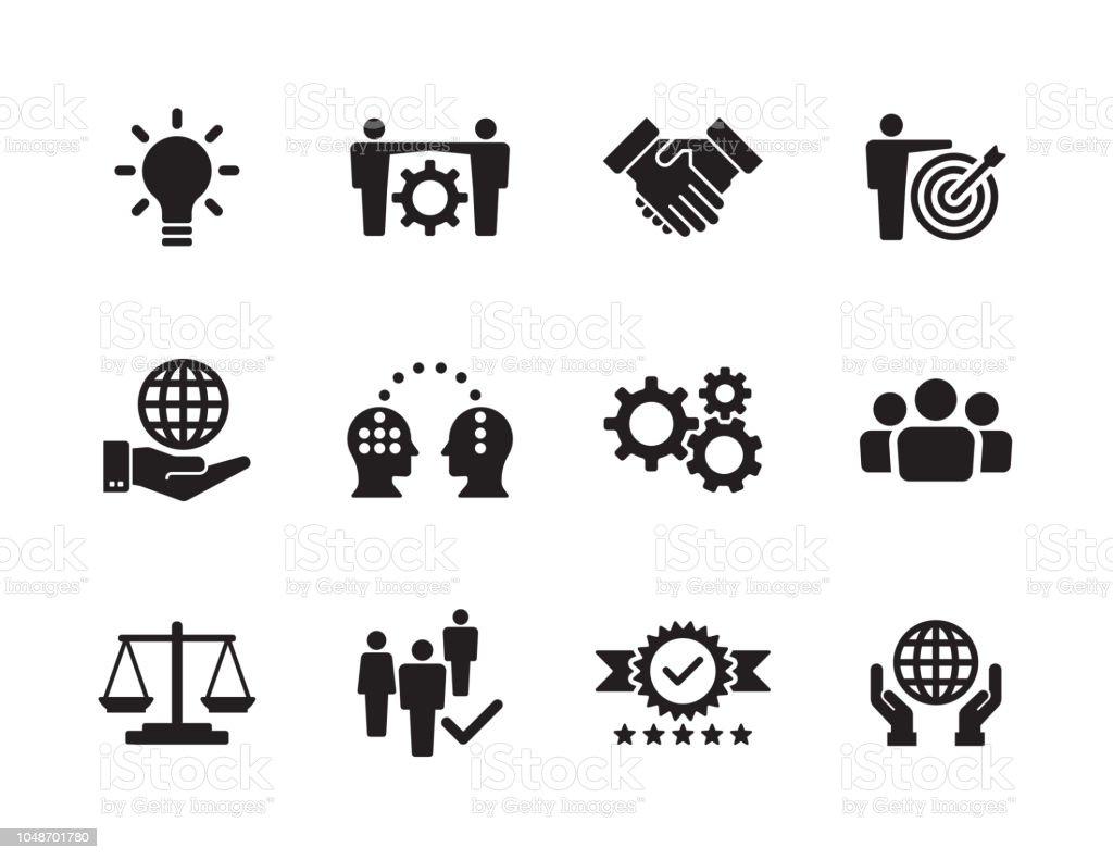 Набор основных значений - Векторная графика Бизнес роялти-фри