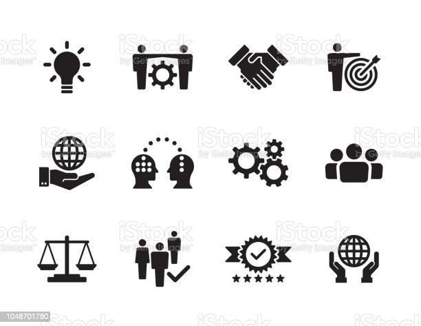 Набор Основных Значений — стоковая векторная графика и другие изображения на тему Бизнес