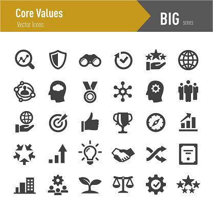 Core Values Icons - Big Series clipart