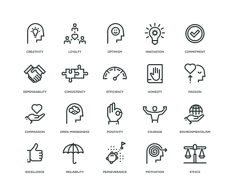 Core Values Icons - Line Series