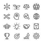 Core Values Icons Set - Line Series