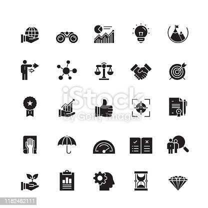 Core Values Related Vector Icons