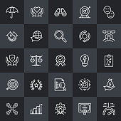 Core Values Thin Line Icons