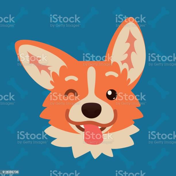 Corgi dog emotional head vector illustration of cute dog in flat vector id918039706?b=1&k=6&m=918039706&s=612x612&h=s0m6shr8yrqta2he7 q8xf7szr8wr5kqcaajq37zwae=