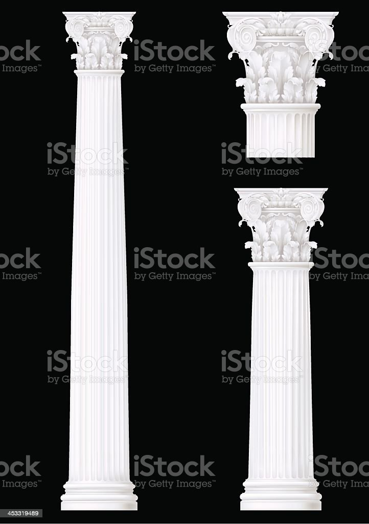 corinthian column set vector art illustration