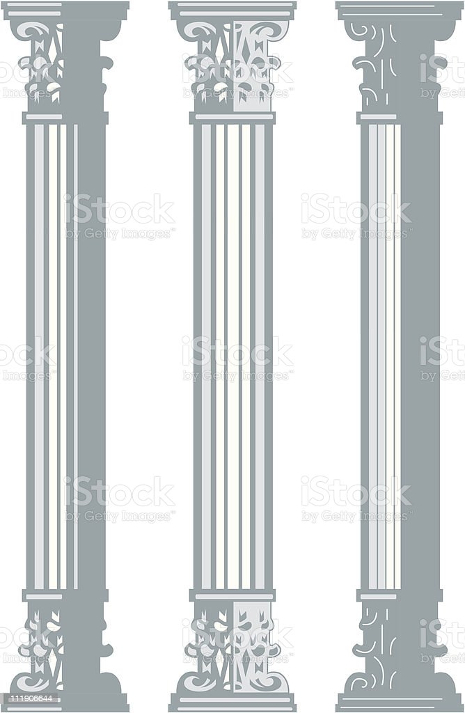 Corinthian columns royalty-free stock vector art