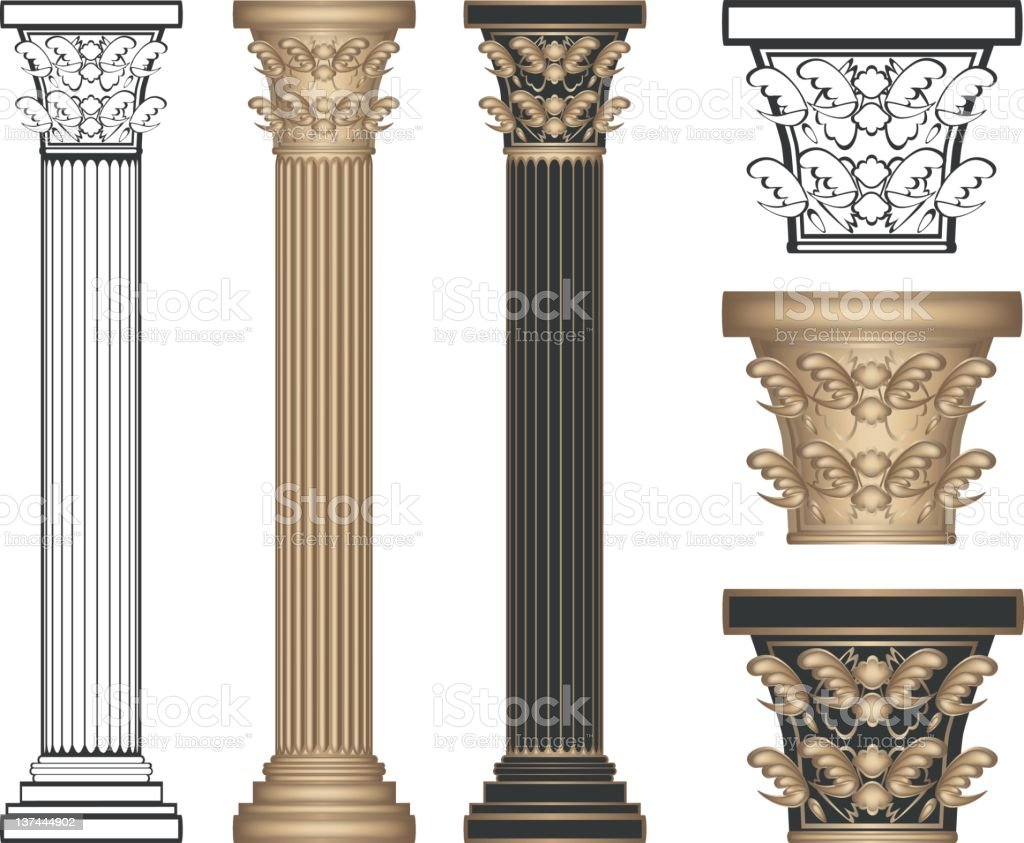 Corinthian Columns vector art illustration