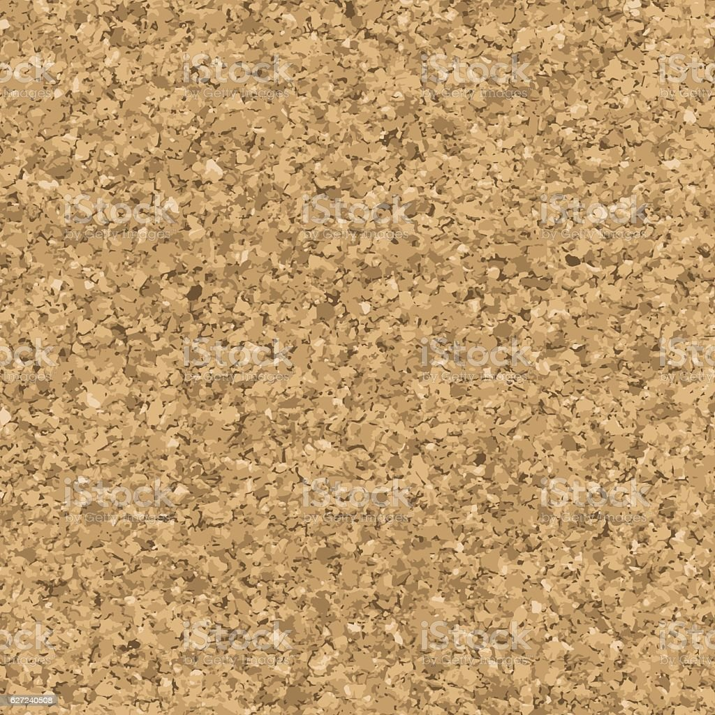 Cork seamless texture vector art illustration