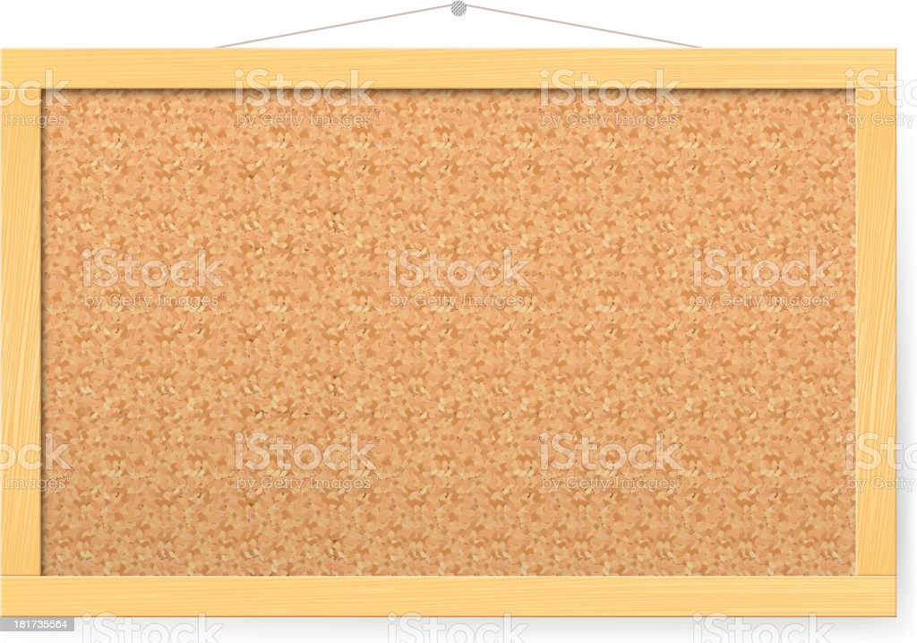 Corkboard royalty-free stock vector art