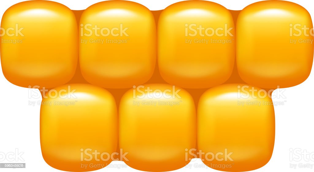 corn cells on white royalty-free corn cells on white stock vector art & more images of agriculture