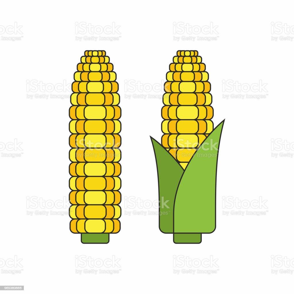 Corn cobs corn cobs - stockowe grafiki wektorowe i więcej obrazów bez ludzi royalty-free
