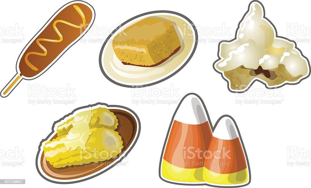 Corn Collection vector art illustration