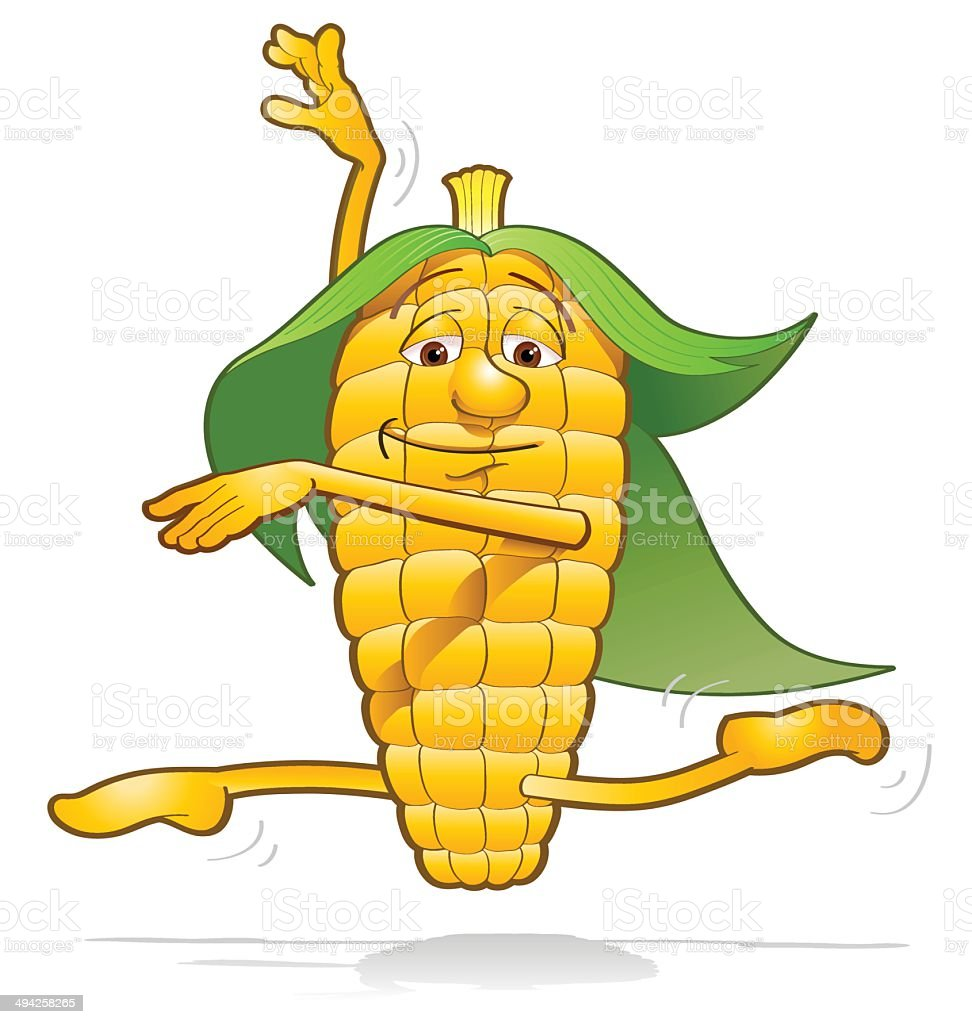 Corn happiness vector art illustration