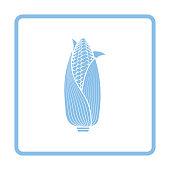 Corn icon. Blue frame design. Vector illustration.