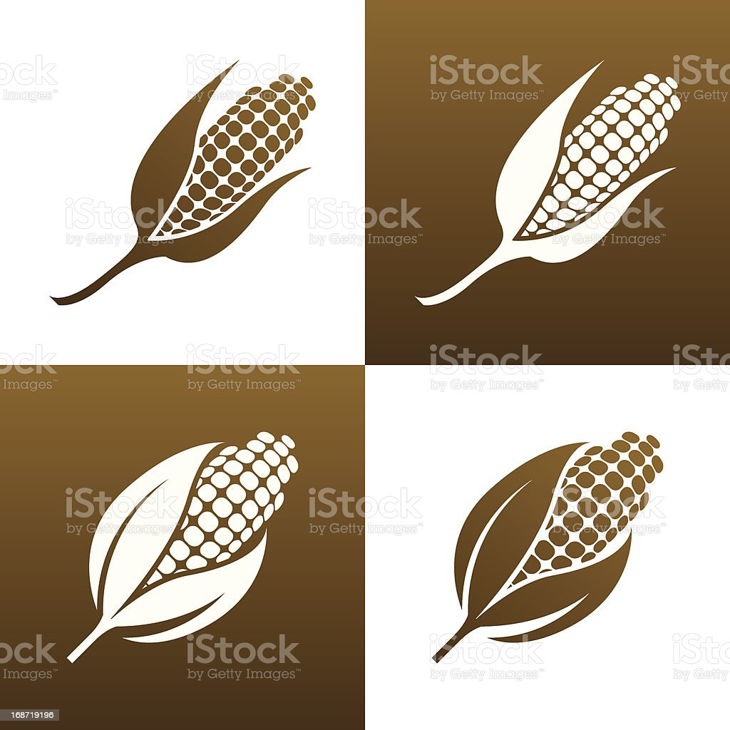 Corn Icon vector art illustration