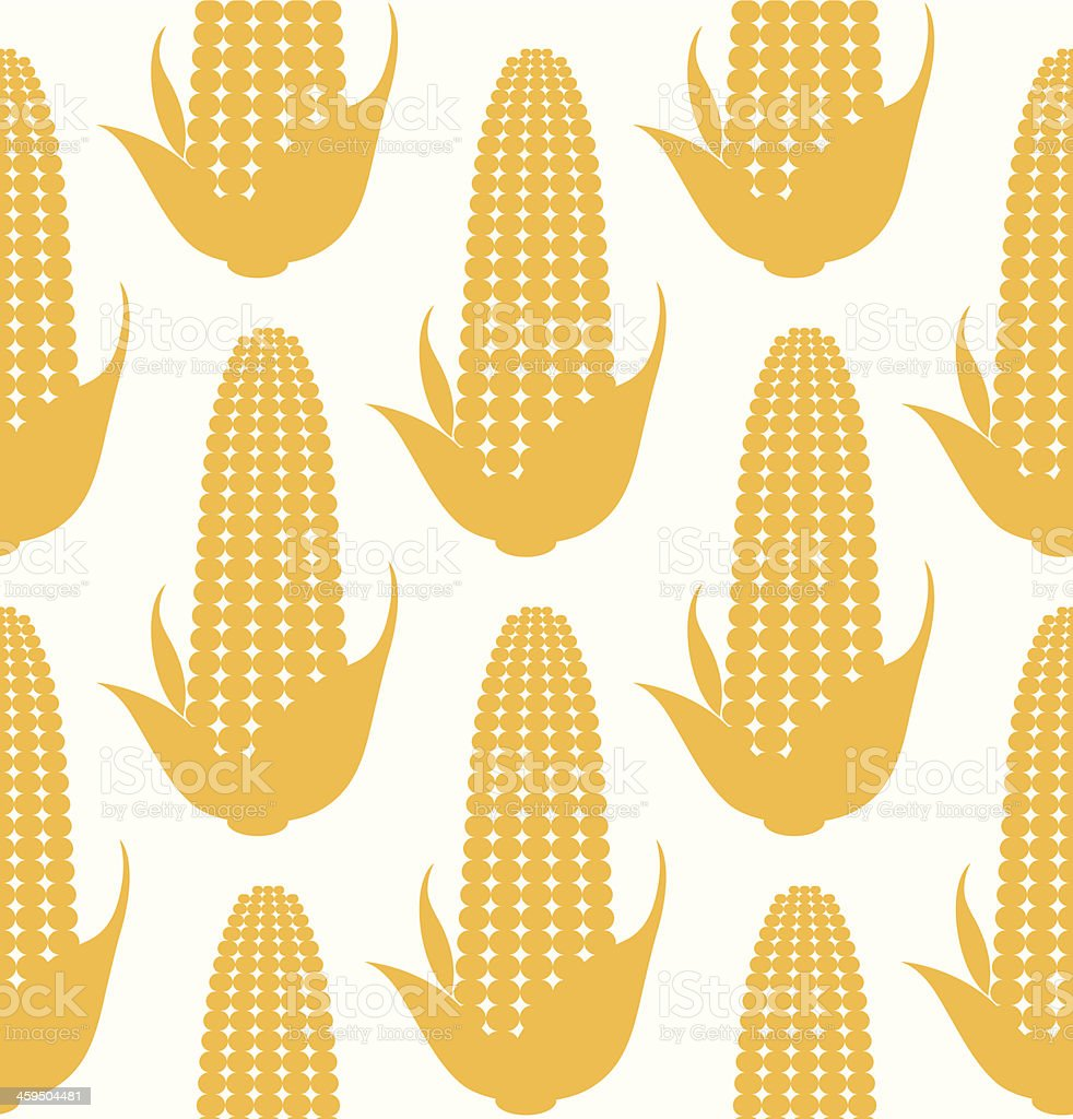 Corn. Pattern vector art illustration