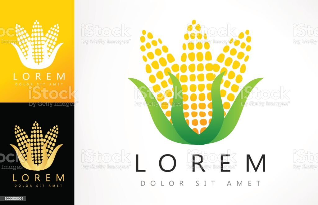 Corn Symbol Stock Vector Art More Images Of Agriculture 823365564