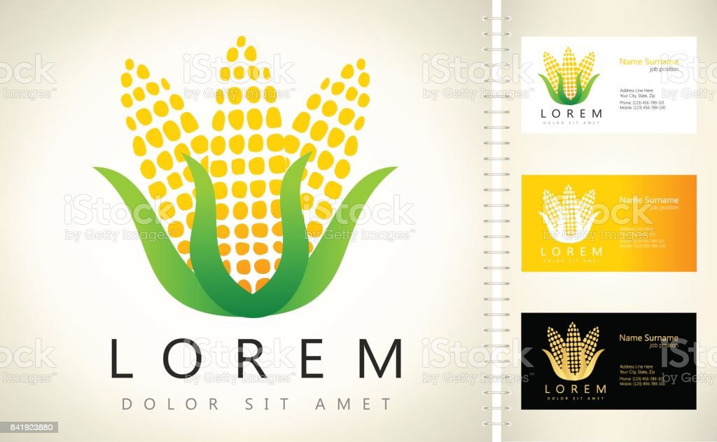 Corn Symbol Stock Vector Art More Images Of Agriculture 841923880