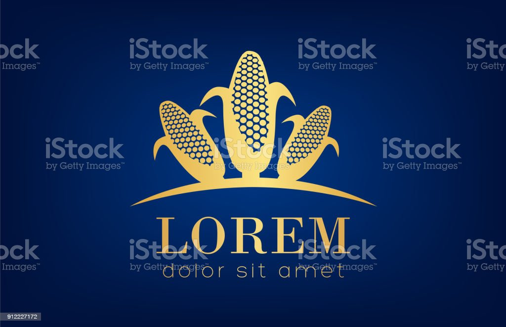 Corn Symbol Stock Vector Art More Images Of Agriculture 912227172