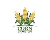 colored farm corn vegetable emblem