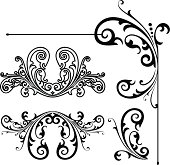 Hand vectored Bonus file, clean and crisp! corner and Ornate detail.Includes  flourish centres. Saved in EPS,ver 8 ,AI, PDF, COREL DRAW ver 8 and jpeg format.