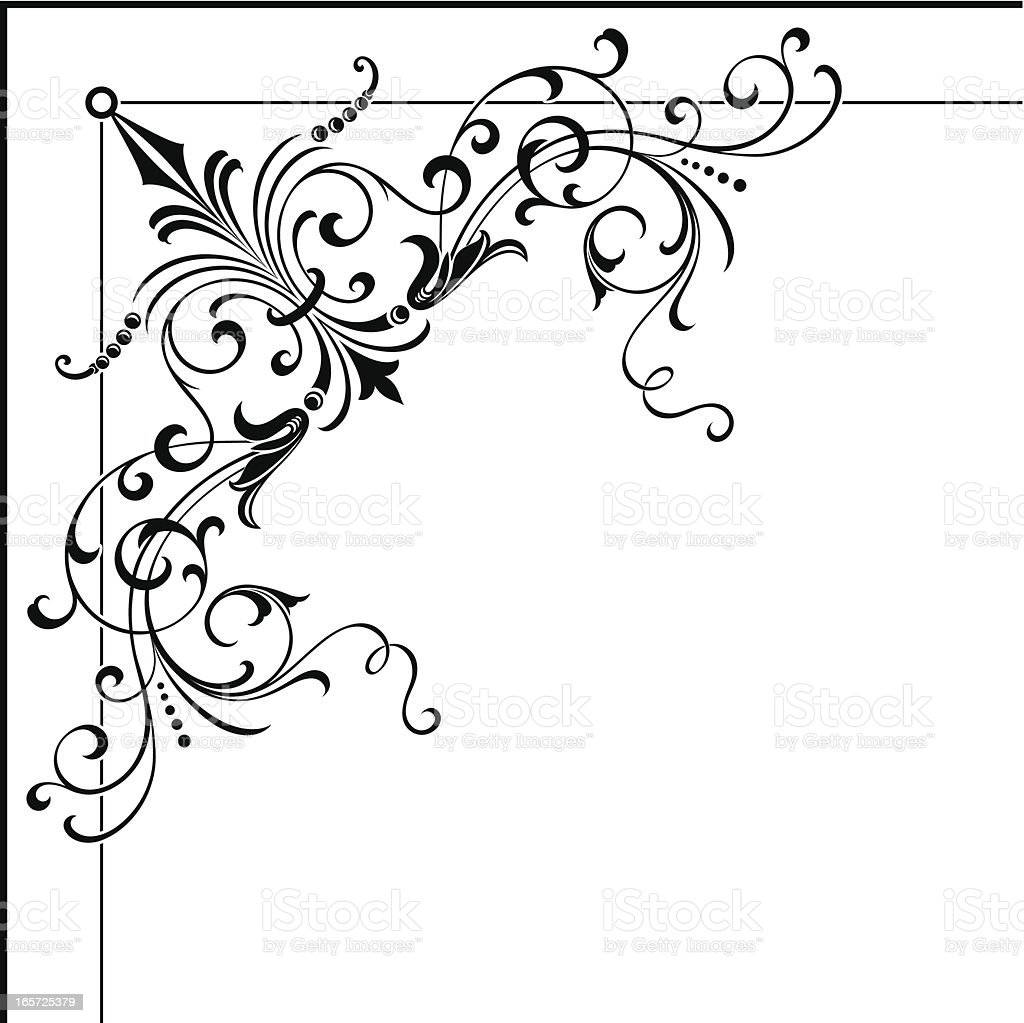 Corner Art Illustration vector art illustration