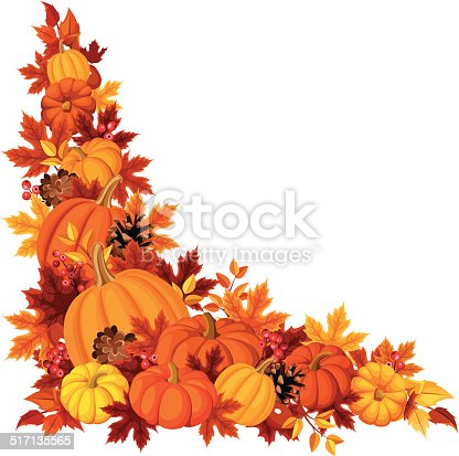corner background with pumpkins and autumn leaves vector pine cone clip art free images pine cone clip art free