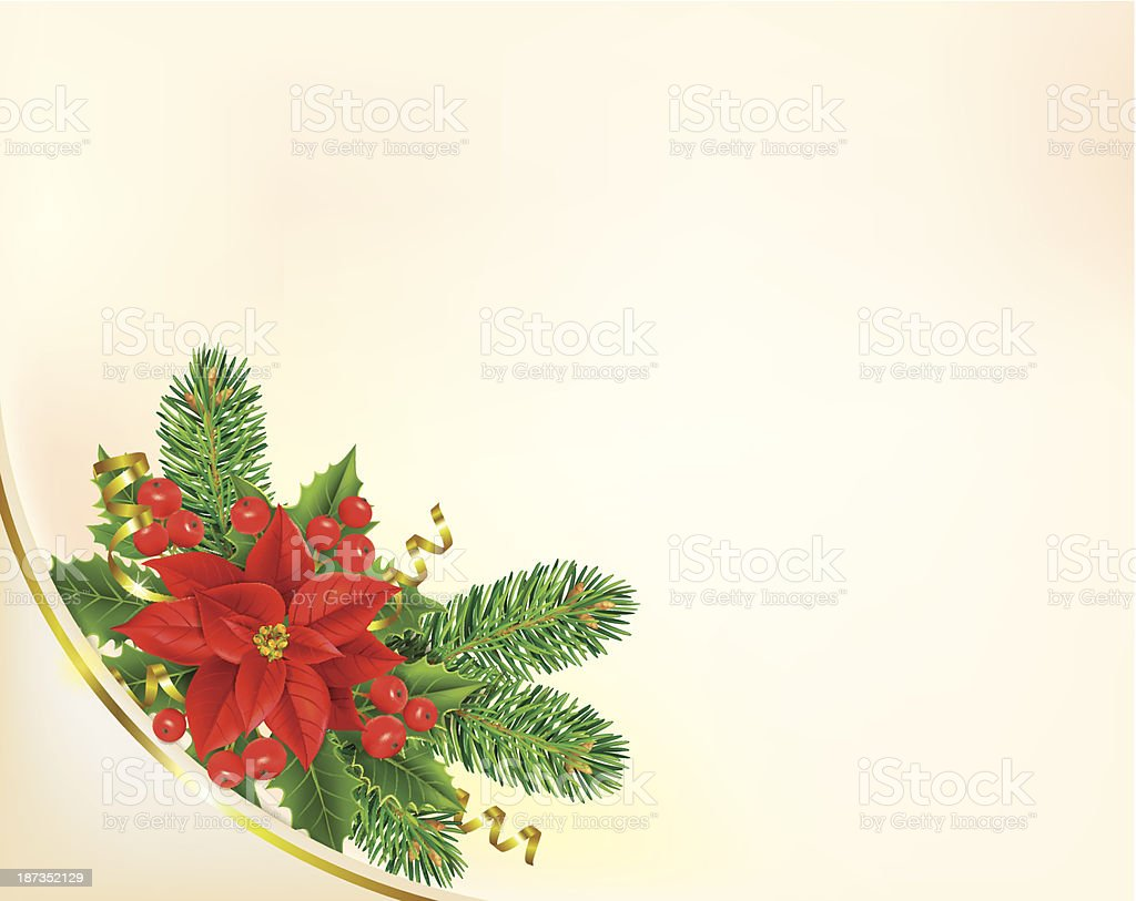 Corner Christmas banner with poinsettia royalty-free corner christmas banner with poinsettia stock vector art & more images of backgrounds