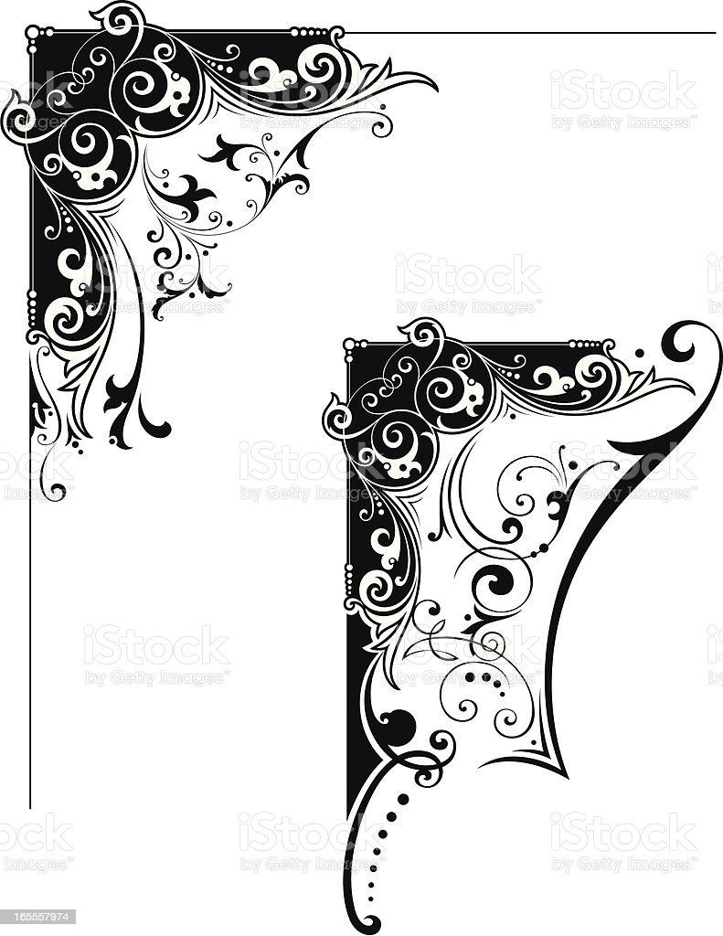 Corner Designs vector art illustration