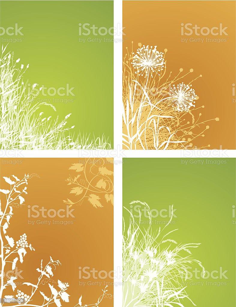 Corner plants set royalty-free stock vector art