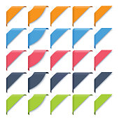 A set of 5 ribbon styles in 5 different colors. Every designs are grouped individually and layered according to colors.