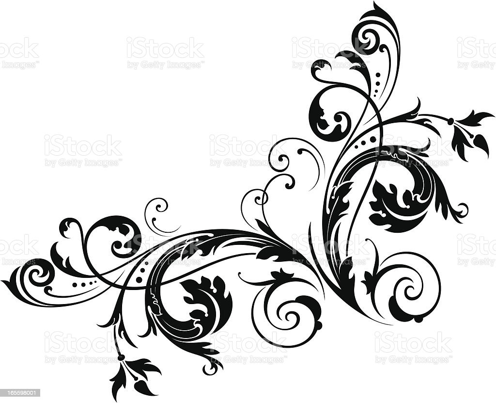 Corner Scroll royalty-free stock vector art