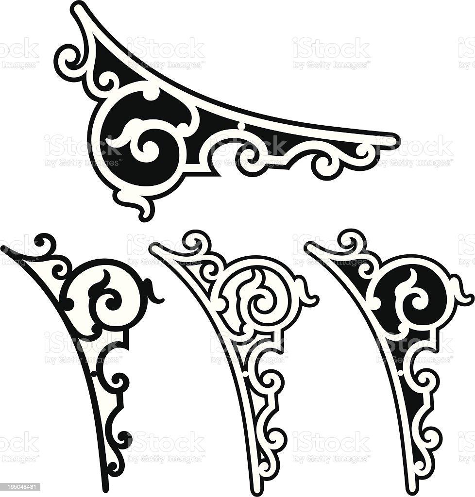 Corner scrolls royalty-free stock vector art