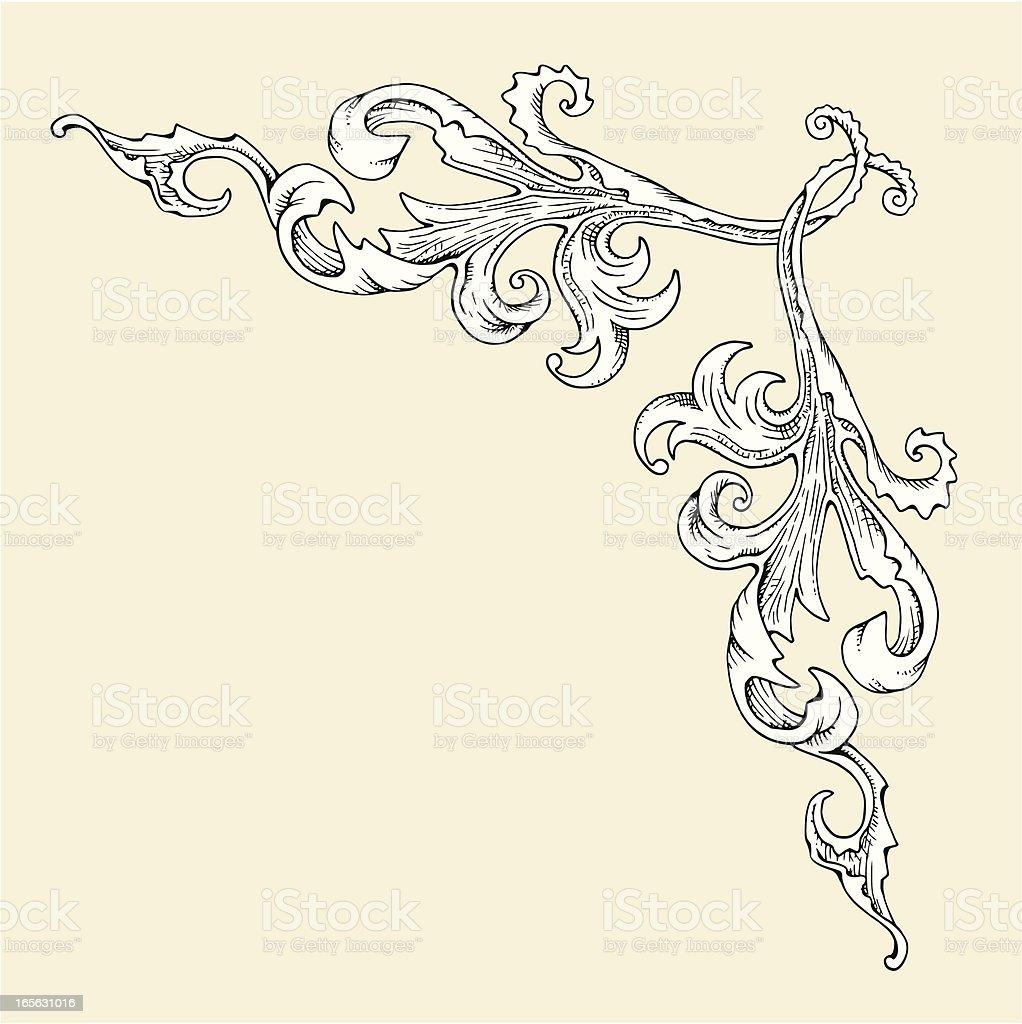 Corner Swirl royalty-free corner swirl stock vector art & more images of angle