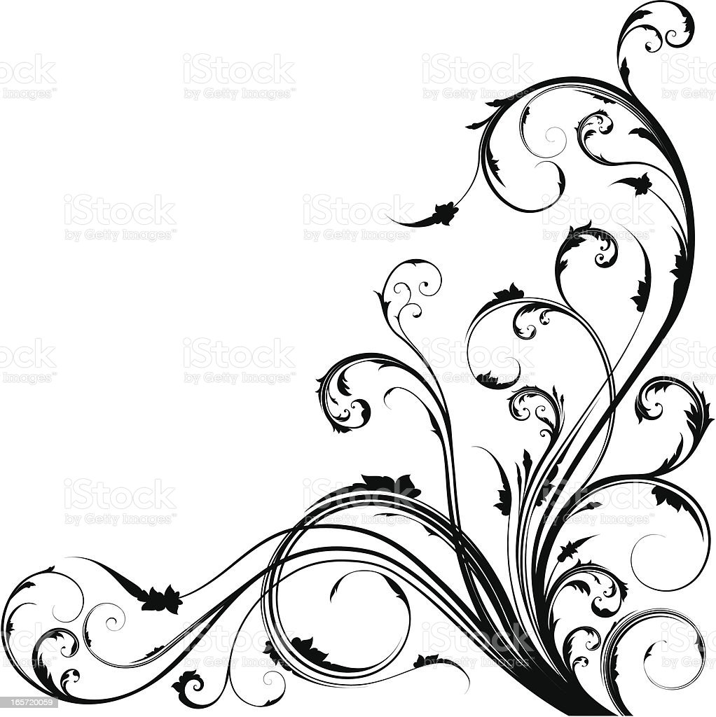 corner swirl stock vector art amp more images of angle