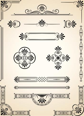 Corners, Decorative Dividers and Ornaments