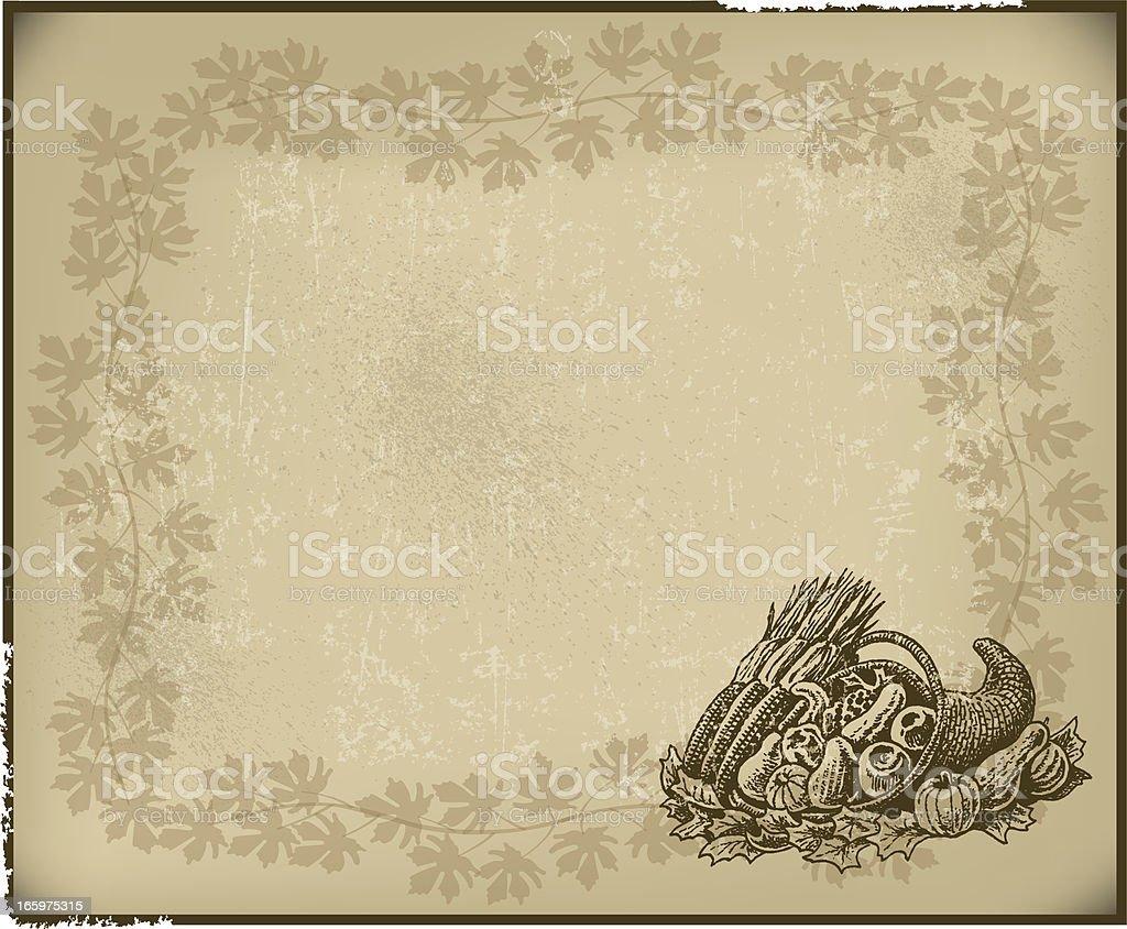 Cornucopia Background - Autumn Season vector art illustration
