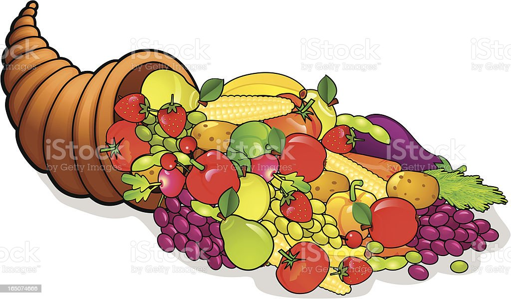 Cornucopia royalty-free stock vector art