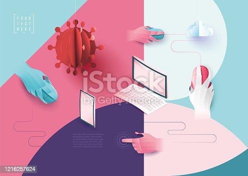 istock Corona chat cloud computing covid 19 1216257624