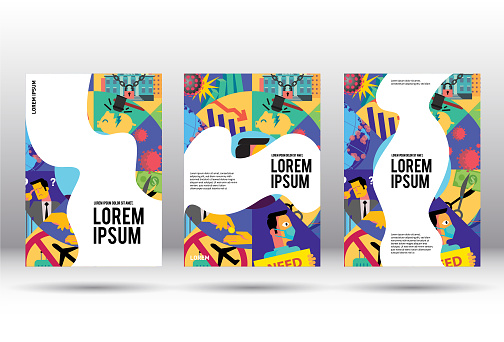 Corona economy cover and page design