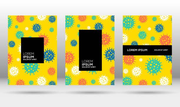 Corona pattern design for cover or banner vector art illustration
