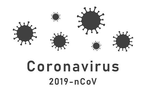 MERS Corona Virus Biohazard safety icon shape. biological hazard risk logo symbol. Contamination epidemic virus danger sign. vector illustration image. World map background. COVID19