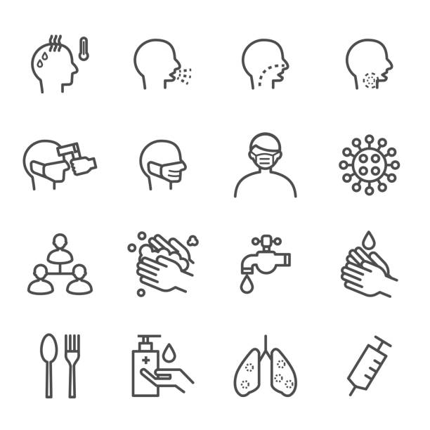 Corona virus Covid 19 Icons Vector This is graphics vector Illustration icons. Ready to use for websites, social medias, presentations, applications, info graphic and illustrations. rubbing alcohol stock illustrations