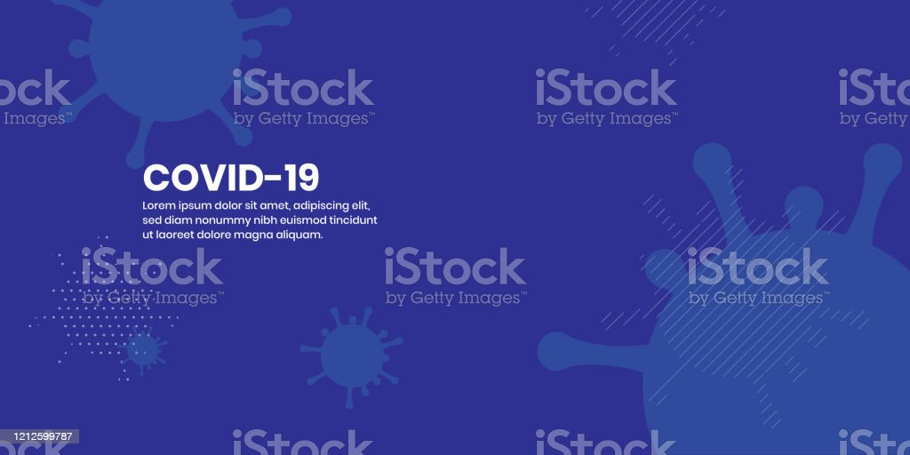 Corona Virus Covid-19 Abstract Flat Background Covid-19 corona virus abstract flat background Bacterium stock vector