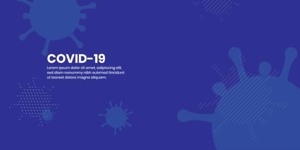 ilustraciones, imágenes clip art, dibujos animados e iconos de stock de corona virus covid-19 fondo plano abstracto - covid 19
