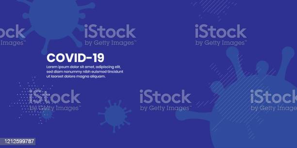 Corona Virus Covid19 Abstract Flat Background Stock Illustration - Download Image Now